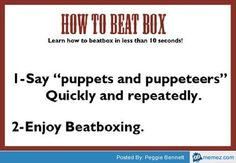 A very useful guide on how to beat box