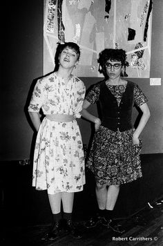 Debbie Mazar and friend at Danceteria. Robert Carrithers: Newly Discovered 80s New York, Club 57, Danceteria, Wendy Wild & John Sex and Old Flame Photos.