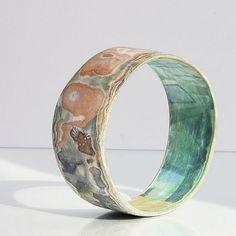 Kiahdesign Paper Jewellery by Sharon Armstead - paper mâché bangle bracelet.