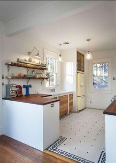 Напольная плитка для кухни (24 фото)