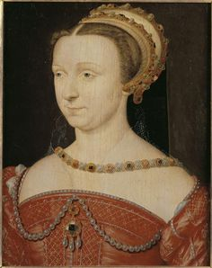 Anna d'Este (1531-1607), Duchess of Guise, Duchess of Nemours in 1566. Daughter of Hercule II d'Este, wife of Francis of Lorraine, Duke of Guise, then Jacques of Savoy, Duke of Nemours
