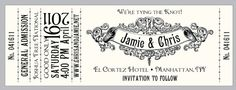 Antique Concert Ticket Save the Date!