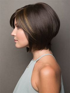 Noriko Wigs - Jolie - - Wig features: Monofilament Top Modern bob wig perfectly layered with texture and volume. Noriko combines a hand-tied top with monofilament construction and cali Bob Cut Wigs, Short Bob Wigs, Short Bob Haircuts, Haircuts With Bangs, Long Bob Hairstyles, Trending Hairstyles, Short Hair Cuts, Short Hair Styles, Haircut Short