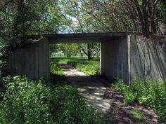 Boblo Island Amusement Park, Bois Blanc Island, Ontario 1898 - 1993 - antique car ride, bridge still standing