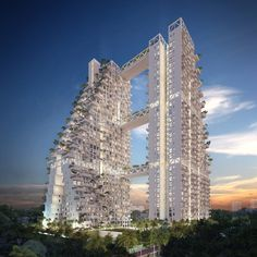 Condominium at Bishan Central to be built in the Bishan district of Singapore; designed by Moshe Safdie & Safdie Architects