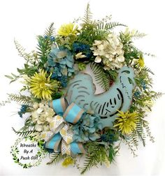 Rooster Wreath, Farmhouse Wreath, Country Rooster Wreath, Rooster Décor, Rustic Wreath, Summer Wreath,Mothers Day Wreath,Teal Rooster Wreath