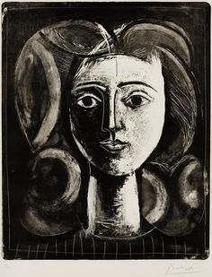 Pablo Picasso (1881-1973) - Head of a Young Girl (Tête de jeune fille), 1947