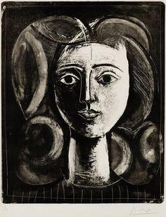 Pablo Picasso, 'Tête de jeune fille' (1947)