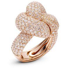 Palmiero - Intrecci Ring - 18 ct rose gold  via: