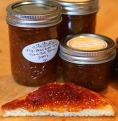 Fig, Bourbon and Vanilla Bean Jam - great use for fresh figs...and bourbon.  Would be great with Blue Cheese