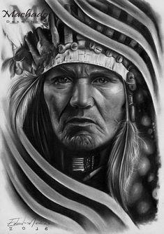 Native American Tattoos, Native Tattoos, Native American Wisdom, Native American Pictures, Native American Indians, Native Indian, Native Art, Tattoo Studio, Indian Tattoo Design