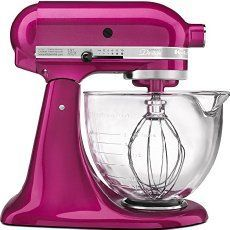 This KitchenAid Artisan Mixer features an elegant glass bowl which has a convenient pouring spout and easy-to-read, graduated measurement markings. With the new Artisan KitchenAid Mixer, the beater spirals within the bowl for thorough mixing Kitchenaid Artisan Stand Mixer, Mélangeur Kitchenaid, Artisan Mixer, Kitchen Aid Artisan, Kitchen Aid Mixer, Kitchen Aide, Kitchen Shop, Small Appliances, Furniture