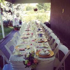 Tea Party like the long table on the porch!