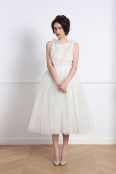 Browse Roomy Dress White and more from Parlor at Wolf & Badger - the leading destination for independent designer fashion, jewellery and homewares. English Country Style, Tulle Dress, Fashion Beauty, Summer Outfits, White Dress, Flower Girl Dresses, Silk, Clothes For Women, Elegant