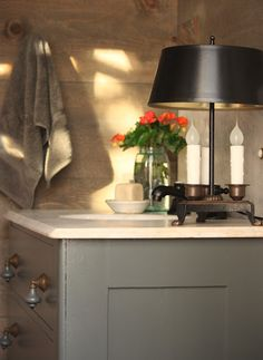 Vanity: Ashwood Moss by Benjamin Moore  For the Love of a House