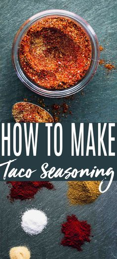 Homemade taco seasoning takes just minutes to make with ingredients you probably already have on hand! Save money by making your own copycat taco seasoning.// recipe // diy // easy // for 1 lb // how to make