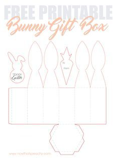 Free Bunny Ears Gift Box Printable For Easter Easter Gift Boxes Easter Bunny Ears Gift Box Template