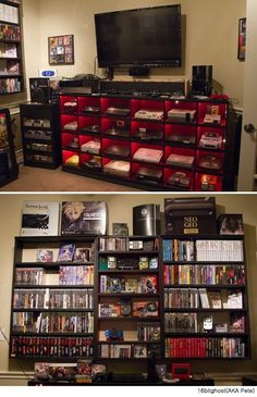 Video game console collection - beautifully displayed!