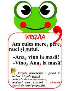 Semne de punctuație - Virgula Romanian Language, Fairy Tales For Kids, Teacher Supplies, Math For Kids, School Lessons, Worksheets For Kids, Kids Education, Classroom Management, Kids And Parenting