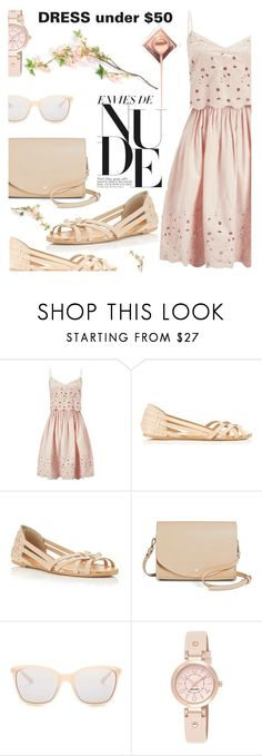 """""""Dress Under50"""" by shoalehnia ❤ liked on Polyvore featuring Miss Selfridge, Cesca, Smith Optics and Nine West"""