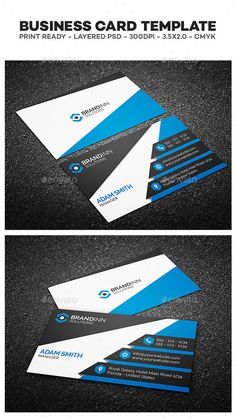 Creative Corporate Business Card Template  | #businesscard #businesscardtemplate | Download: http://graphicriver.net/item/creative-corporate-business-card-03/10368428?ref=ksioks