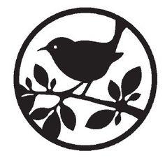 .bird stencil pattern