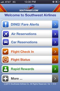 10. A concurrent confirmation email let Gary know that there's a Southwest App for his smartphone.  The app will alert him real-time about flight status and new fare deals.  Gary is so impressed by the service setup.