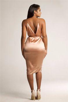 Danna Satin dress  $34.99 https://alaganza.com