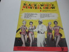Black and White minstrel show, vintage music sheet,  Francis Day & Hunter ltd fair condition by LaMaidenenNoire on Etsy