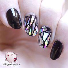 Broken glass nails