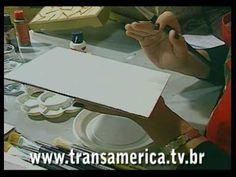 Tv Transamérica Técnica caixa madeira em relevo