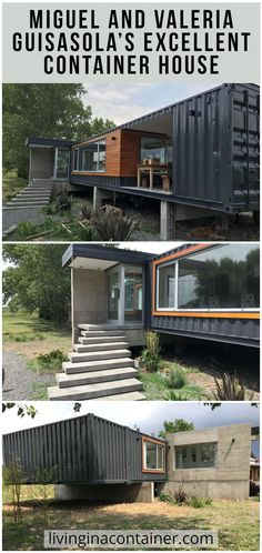 They knew of its existence in other countries, and were encouraged to carry out a similar project in Tres Arroyos. They bought four containers, and with the professional direction of Nicolás Brüel, Miguel and Valeria Guisasola fulfilled their dream.    #shippingcontainerhomes  #containerhomes  #storagecontainerhomes  #containerhouse  #shippingcontainerhouse  #shippingcontainercabin  #containerhousedesign  #containerhouseplans  #containerhousedesigninterior  #containerhomefloorplans Shipping Container Home Builders, Shipping Container House Plans, Shipping Containers, Storage Container Homes, Container House Design, Container Houses, Building Structure, Building A House, Eco Architecture