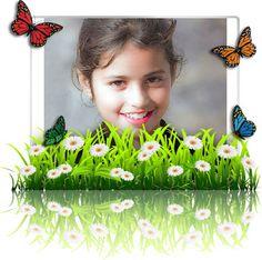 Marcos para fotos con Mariposas personalizados gratis.