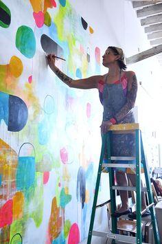 Lisa Congdon's studio tour and new book Art Inc. / sfgirlbybay.