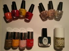 Minis - OPI Hot & Spicy, Koala Berry, Need Sunglasses?, The Thrill Of Brazil; French Beige, French Pink and Shimmer White (names unknown), Nails Inc: Upper Regent Street, Westbourne Grove, Charing Cross Road, Chelsea Bridge Road, Ciate: Blizzard, Models Own: Metallic Gold (name unknown). Unused. £1.00/ea Nail Polish Sale, White Names, Sale Uk, Nails Inc, Metallic Gold, Opi, Minis, Brazil, Berry