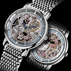 """Two Engraved Skeletonized Beauties: The Patek Philippe 'Art Piece"""" 5180/1 And The IWC Portuguese Tourbillon Mystère Squelette Watches"""
