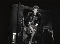 Emerging from a NY police van in 1939 after being arrested for cross-dressing http://ift.tt/2wuG5Ra