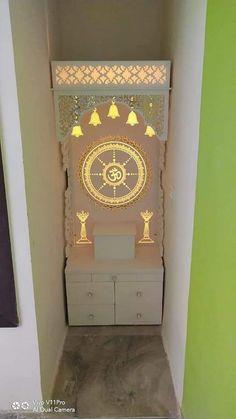 Living Room Wall Designs, Small Room Design Bedroom, Bedroom Furniture Design, Home Room Design, Front Door Design Wood, Pooja Room Door Design, Quotation Sample, Om Meditation, Temple Design For Home