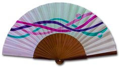 IMPULSO - Abanicos Pintados a Mano Hand Held Fan, Hand Fans, Gumiho, Gymaholic, Projects To Try, Crafty, Fabric, Gifts, Hand Fan
