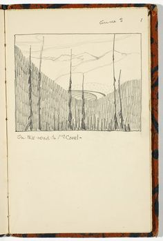 On the Road to Mt. Cavel by Florence Wyle