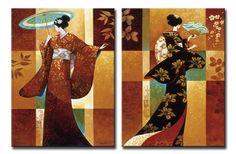 Xl74_12663_4 / Cuadro Misaki & Sakura_ 2 cuadros de 60x85cm