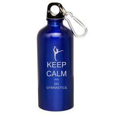 Blue 20oz Aluminum Sports Water Bottle Caribiner Clip ZW146 Keep Calm and Do Gymnastics - http://waterbottlesluv.com/?product=blue-20oz-aluminum-sports-water-bottle-caribiner-clip-zw146-keep-calm-and-do-gymnastics