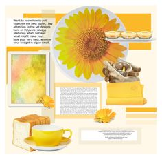 """Sunflower"" by aphrothena13 ❤ liked on Polyvore featuring interior, interiors, interior design, home, home decor, interior decorating, Kate Spade, Dibbern, Tommy Bahama and Americanflat"
