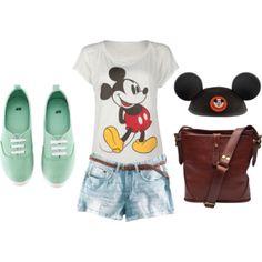 Disney Wear - Check out my Board Cute Disney Outfits, Disney Dress Up, Disneyland Outfits, Disney Inspired Outfits, Disney Style, Cute Outfits, Disney Clothes, Disneyland Ideas, Disney Purse