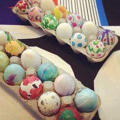 Marimekko inspired Easter Eggs
