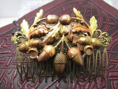Bridal Hair Combs Woodland Wedding Acorns Hair Comb Decorative Combs Weddings | eBay