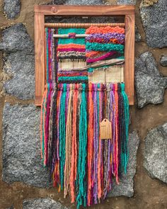 Made in Chile with natural wool and driftwood from Lago Puyehue. It takes me 3 weeks to do it and 3 more weeks the delivery. Weaving Textiles, Tapestry Weaving, Loom Weaving, Hand Weaving, Textile Fiber Art, Textile Artists, Weaving Projects, Woven Wall Hanging, Weaving Techniques