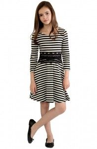 Striped dres Blush by us angels