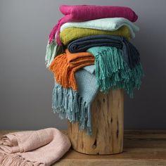 Octavio Blanket or Throw   AllModern Neutral Sofa, Beige Sofa, Knitted Throws, Decorative Throws, Knitting Designs, Bright Pink, Pale Pink, Magenta, Bath