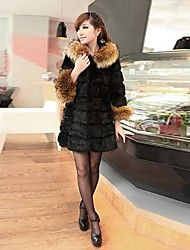 AISNI™ Women's Fur Collar 3/4 Length Sleeve Coat Save up to 80% Off at Light in the Box with Coupon and Promo Codes.